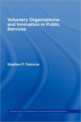 Voluntary Organizations and Innovation in Public Services