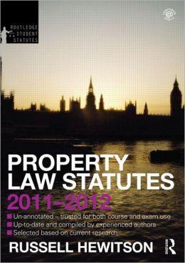 Property Law Statutes 2011-2012
