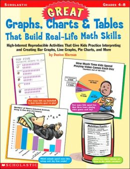Great Graphs, Charts and Tables That Build Real-Life Math Skills: High-Interest Reproducible Activities That Give Kids Practice Interpreting and Creating Bar Graphs, Line Graphs, Piecharts and More