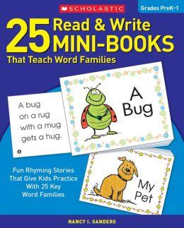 25 Read and Write Mini-Books That Teach Word Families