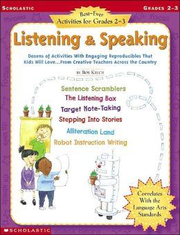 Best-Ever Activities For Grades 2-3: Listening & Speaking