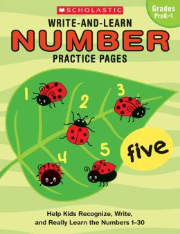 Write-and-Learn Number Practice Pages (Grades PreK-1)