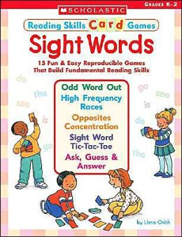 Reading Skills Card Games: Sight Words