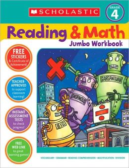 Reading and Math Jumbo Workbook: Grade 4