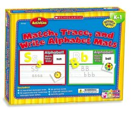 Match, Trace, and Write Alphabet Mats, K-1: 20 Activities