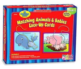 Lace-up Cards Matching Animals And Babies