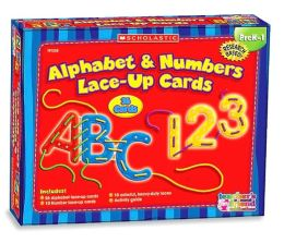 Lace-up Cards Alphabet And Numbers