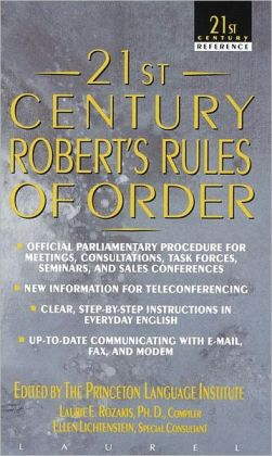 Twenty-First Century Roberts Rules of Order