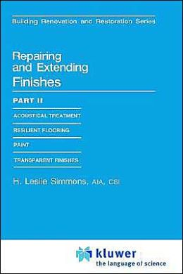 Repairing and Extending Finishes: Part II: Resilient flooring