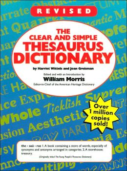 Clear & Simple Thesaurus Dictionary by Harriet Wittels ...