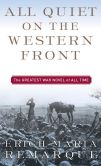 Book Cover Image. Title: All Quiet on the Western Front, Author: Erich Maria Remarque