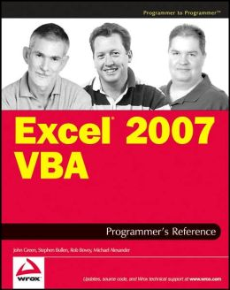 Excel 2007 VBA Programmer's Reference