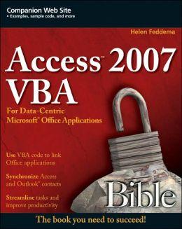 Access 2007 VBA Bible