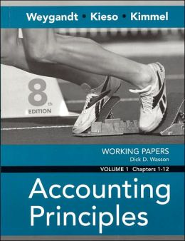 Working Papers to Accompany Accounting Principles