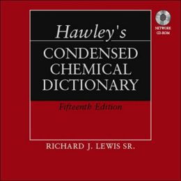 Hawley's Condensed Chemical Dictionary, Book Set [With CDROM]