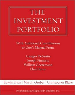 The Investment Portfolio User's Manual [With CDROM]