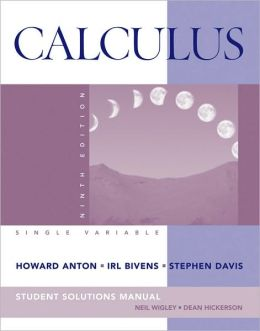 Student Solutions Manual to accompany Calculus Late Transcendentals Single Variable