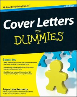 Cover Letters For Dummies 3E