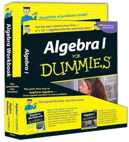 Algebra for Dummies and Algebra Workbook for Dummies Education Bundle