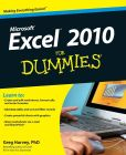 Book Cover Image. Title: Excel 2010 For Dummies, Author: Greg Harvey