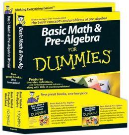 Basic Math and Pre-Algebra for Dummies Education Bundle