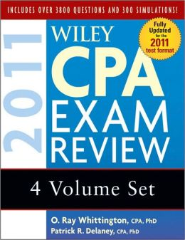 Wiley CPA Exam Review 2011, 4-volume Set