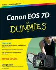 Book Cover Image. Title: Canon EOS 7D For Dummies, Author: Doug Sahlin