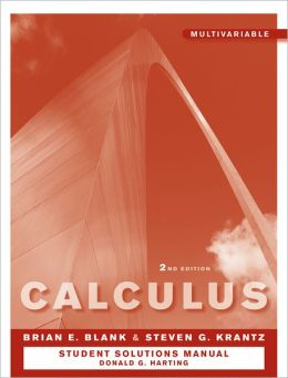 Calculus, Multivariable Student Study and Solutions Companion