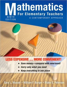 Mathematics for Elementary Teachers: A Contemporary Approach, Ninth Edition Binder Ready Version
