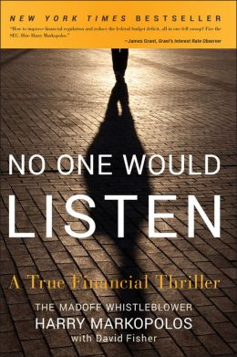 no one would listen Jim lajoie's novel, no one would listen, relays a story of a young boy's ordeal with bullying this book would be a valuable resource for parents, educators and church youth leaders it approaches this rampant problem for our youth by identifying behaviors of the bully and the victim.