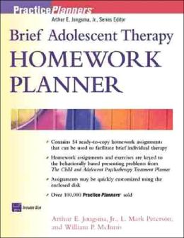 Brief Adolescent Therapy Homework Planner