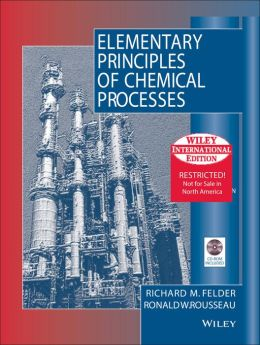 Elementary Principles of Chemical Processes - with CD (International Edition)