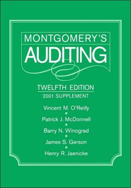 Montgomery's Auditing, 2001 Supplement