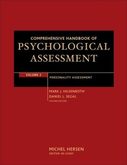 Comprehensive Handbook of Psychological Assessment: Personality Assessment