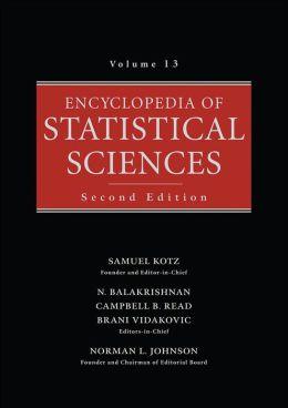 Encyclopedia of Statistical Sciences, Volume 13