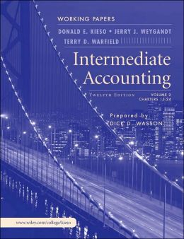 Intermediate Accounting, Volume 2, Working Papers