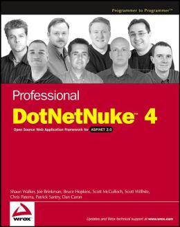 Professional DotNetNuke 4.0: for ASP.NET 2.0
