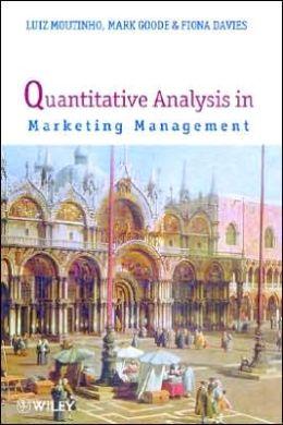 Quantitative Analysis in Marketing Management