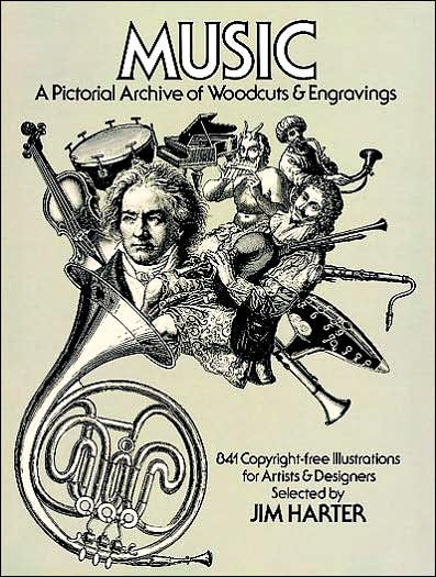 Music - A Pictorial Archive of Woodcuts and Engravings: 841 Copyright-Free Illustrations for Artists and Designers