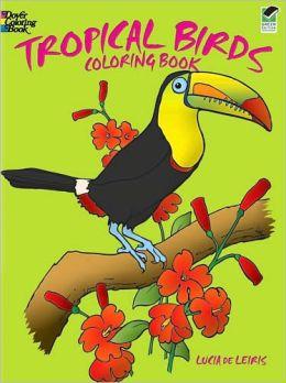 Tropical Birds Coloring Book
