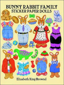 Bunny Rabbit Family Sticker Paper Dolls