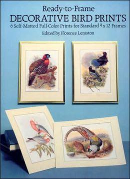 Decorative Bird Prints: A Portfolio of 6 Self-Matted Full-Color Prints