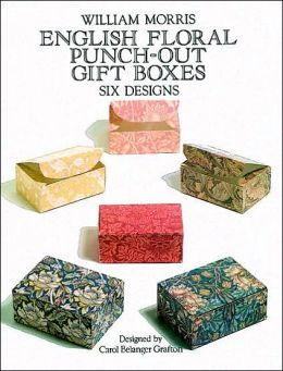 English Floral Punch-Out Gift Boxes: Six Designs