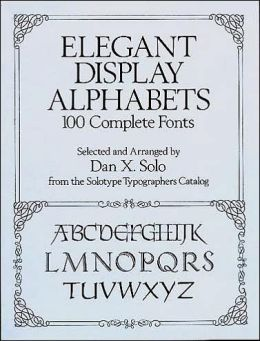 Elegant Display Alphabets