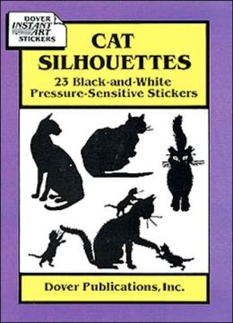 Cat Silhouettes: 23 Black-and-White Pressure-Sensitive Stickers