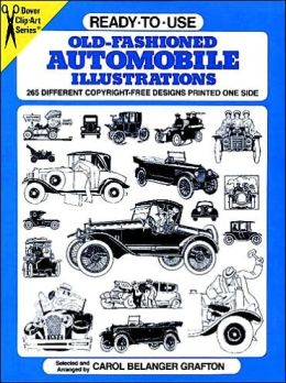 Ready-to-Use Old-Fashioned Auto Illustrations