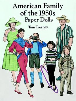 American Family of the 1950s Paper Dolls