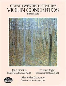 Great Twentieth-Century Violin Concertos: in Full Score: (Sheet Music)