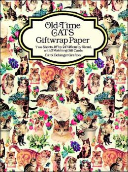 Old-Time Cats Giftwrap Paper