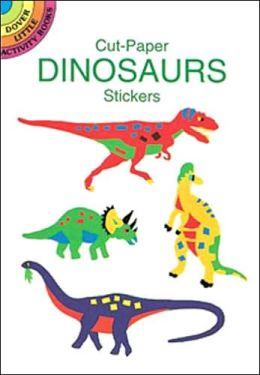 Cut-Paper Dinosaurs Stickers